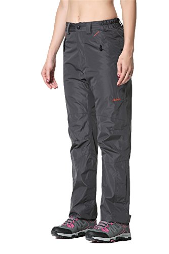 (Clothin Women's Insulated Ski Pants Fleece-Lined Snowboarding Outdoor Winter Pant(Gray, S))