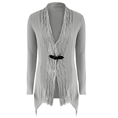 Boheme Femme Cardigan en Veste Manteau Sweat Asymetrique Shirt Tricot BienBien Automne Chic CqtBEf