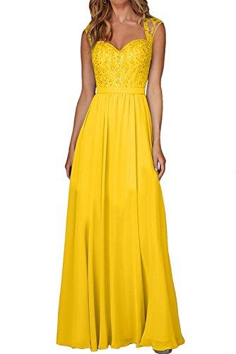 Gelb Promkleider Brautjungfernkleider mia Lemon Gruen Ballkleider La Spitze Kleider Lang Abendkleider Jugendweihe Braut qvwAx77H