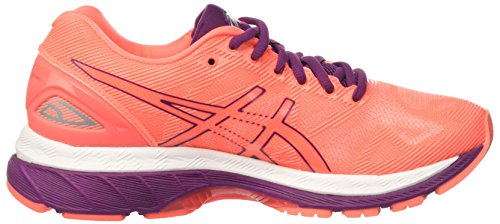 Zapatillas Nimbus 19 Asics Purple Mujer Dark White Running Flash para de Naranja Gel Coral tRgqgf