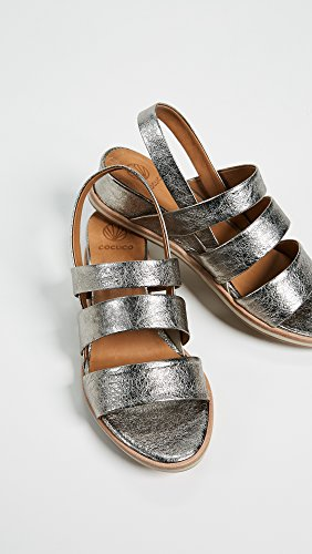 Coci Schoenen Voor Vrouwen Koi Sandalen Met Klittenband Metallic