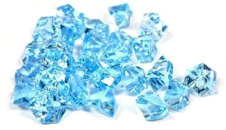2 Pounds of Blue Acrylic Ice Rock Vase Gems or Table Scatters ()