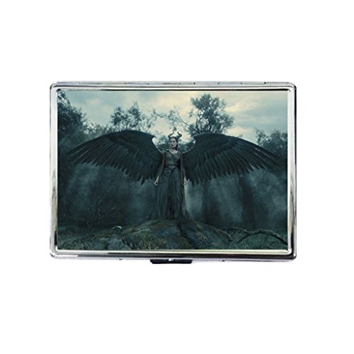 maleficent magic wings Rectangle Business Classic Metal High Quality Cigarette Case-Fry - Maleficent Diy