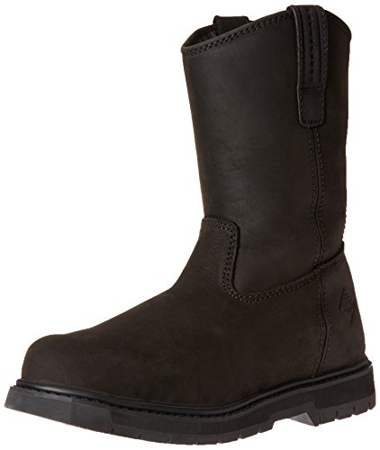 Calf Toe Steel Sneaker (Muck Wellie Classic Soft Toe Men's Leather Work Boots, Medium Width)