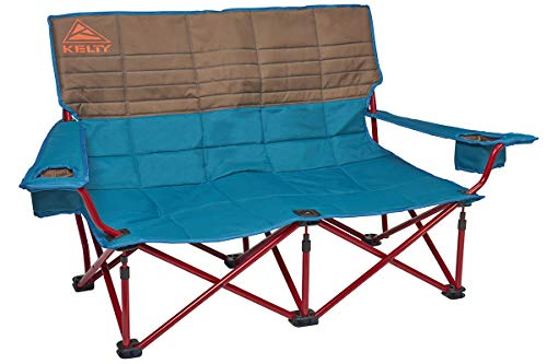 Kelty Low-Love Seat Camping Chair, Deep Lake/Fallen Rock - Portable, Folding Chair for Festivals, Camping and Beach Days - Updated 2019 Model (Best Hiking Chair 2019)
