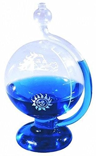River City Clocks Sun and North Wind Weatherball Water Barometer - 8 Inches Tall - Model # 910-100