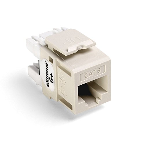 Leviton CAT 61110-RT6 eXtreme 6+ QuickPort Connector - Modular insert - RJ-45 - light almond ()