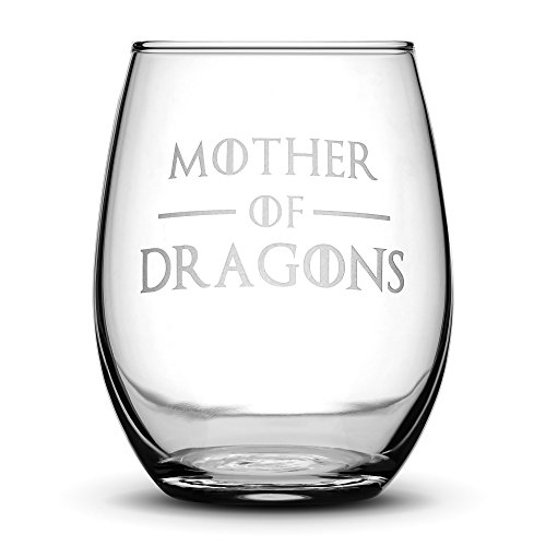 Premium Game of Thrones Wine Glass, Mother of Dragons, Hand
