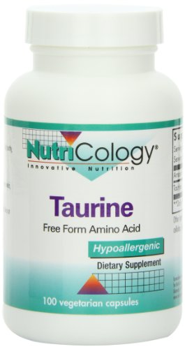 Nutricology Taurine, Free Form Amino Acid, 500 Mg, Vegicaps, 100-Count