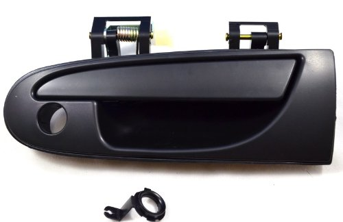 PT Auto Warehouse MI-3603S-FL - Outside Exterior Outer Door Handle, Smooth Black - Driver Side
