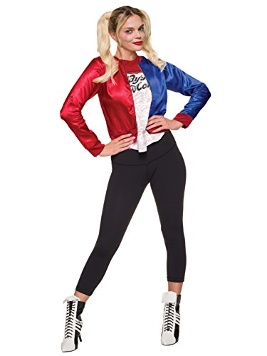 Italian Shirt Jacket - Rubie's Costume Co Official Suicide Squad Ladies Harley Quinn Joker Costume Kit (Large)