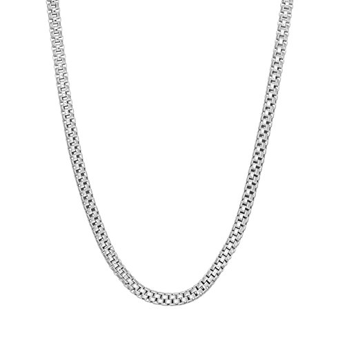 JewelStop 14k Solid White Gold 1.3 mm Popcorn Chain Necklace, Lobster Claw Clasp - 18