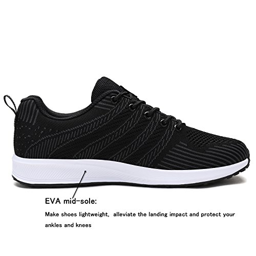 Sole Fashion Shoes Lightweight Black FUN UNMK Soft Walking Sneakers Casual Knitted Running Ultra Men's Sports EOZxv8qZ