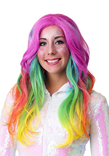 Fun Costumes Supernova Rainbow Wig Standard