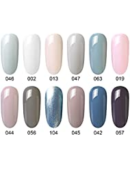 Gel Nail Polish, 12 Pcs, Soak Off Nail Art Manicure Varnish Set, Require LED UV Nail Dryer Lamp