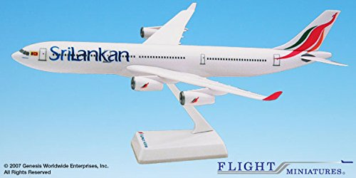 - Flight Miniatures SriLankan Airlines 1999 Airbus A340-300 1:200 Scale Display Model
