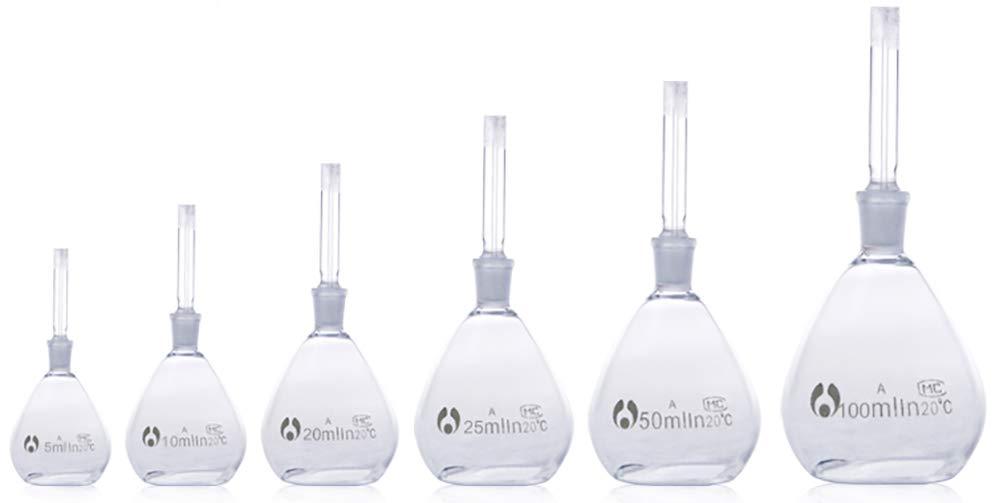 5ml Specific Gravity Bottle, Pycnometer,Borosilicate Glass,Uncalibrated