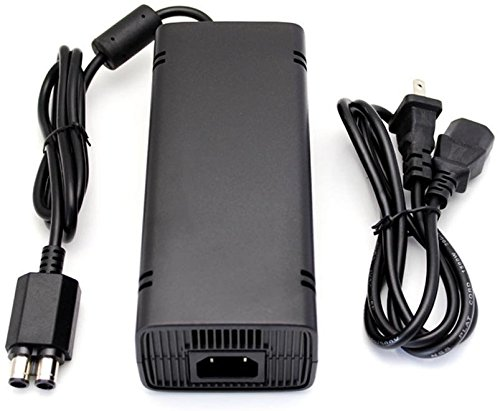 NEW Replacement XBOX 360 SLIM Power Supply - 135W 12V 3 Prong AC Adapter - Power Cord Charger for Xbox 360 SLIM