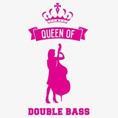 Sudadera con capucha de mujer Queen of Double Bass by Shirtcity Blanco