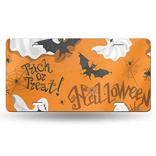 DERTYV License Plate Frame Custom Funny Halloween Bats