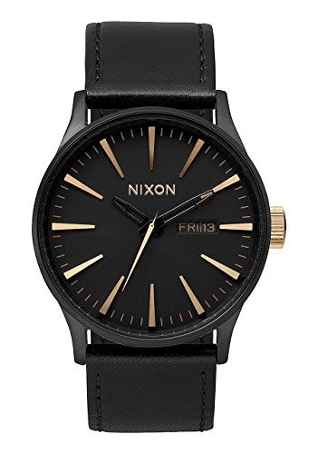 Nixon-Mens-A105-1041-Sentry-Matte-Black-Gold-Watch