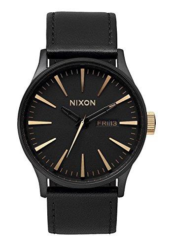 Nixon Men's A105-1041 Sentry Matte Black Gold Watch