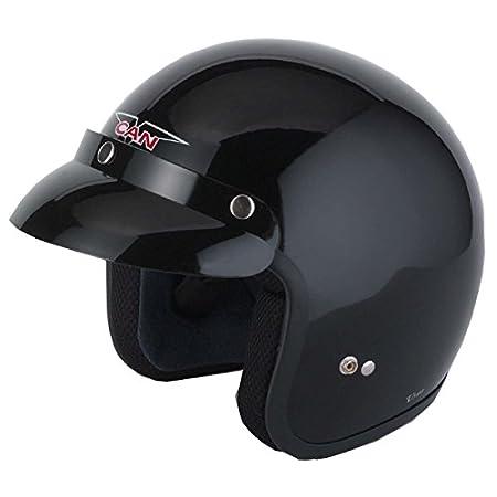 Vcan V500 Open Face Motorcycle Helmet MATT BLACK XL(61-62CM) Midwest