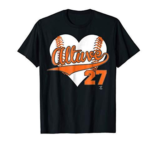 Jose Altuve Baseball Heart T-Shirt - Apparel