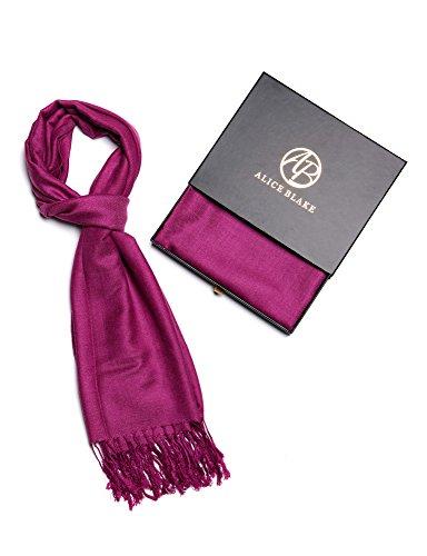 Alice Blake Premium Pashmina Scarf Shawl Wrap Soft Luxurious With Free Gift (Ombre Plaid Short)