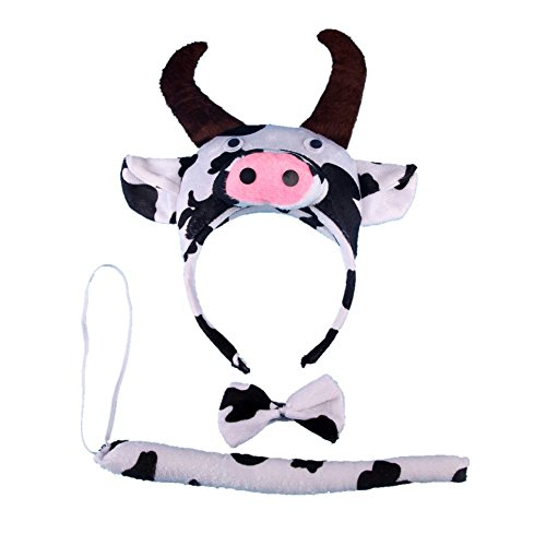 SUMNEE Cow Costume Headband Ear with Tail Tie (Cow Costume For Kids)
