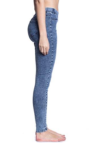 Abbino 3D-6096 Jeggings Vaqueros para Mujeres - Colores Variados - Entretiempo Primavera Verano Otoño Vintage Fashion Rebajas Largos Sport Rectos Fit Oferta Venta Elegante Clásico Cómodo Azul Jeans (Art. 3D-6079)