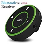 Mchoice Wireless Bluetooth 3.5mm Audio Stereo Adapter Car AUX Home Music Receiver Dongle (Green)
