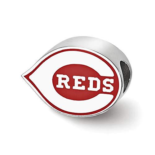 MLB Cincinnati Reds Sterling Silver Cincinnati Reds Enameled Bead Size One Size