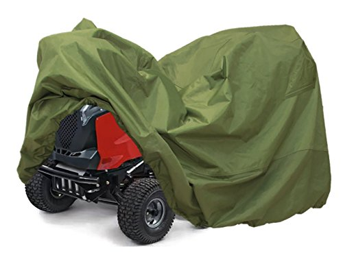 Lawn Mower Tractor Cover with Elastic Hems to Fit a Deck up to 54″ Green Color Product Size 72″ L x 44″ W x 46″ H (Green Color)