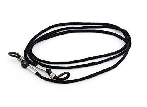 12PCS Black Non-slip Nylon Braided Eyewear Retainer Eyeglass Cord Reading Glasses Sunglass Neck Strap ()