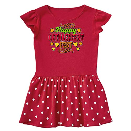 (inktastic - Happy Oktober Fest Infant Dress 12 Months Red and Polka Dot)