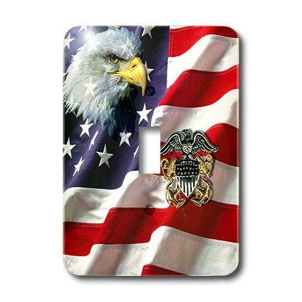 lsp_769_1 US Navy - US Navy Officer Crest - Light Switch Covers - single toggle - Us 769