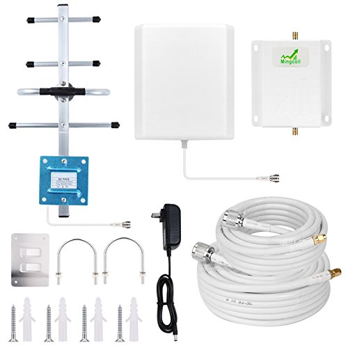 Verizon Signal Booster Mingcoll 4G LTE Cell Phone Signal Booster Amplifier High Gain 700MHz Band 13 Verizon Mobile Signal Repeater Amplifier Kit for Home and Office (WV70-W6H)