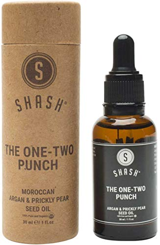 SHASH One-Two Punch Argan and Prickly Pear Seed Oil (30ml) - All-Natural Skin Moisturizer Reduces Wrinkles, Protects Against Damage and Promotes a Youthful Glow - Paraben, Silicone and Sulfate-Free