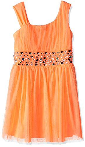 My Michelle Big Girls One Shoulder Illusion Dress with Be...