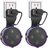 Huishang Holder for Echo Dot 2, 2nd Generation, Echo Dot Kids Edition, Outlet Wall Mount Hanger Stands Accessories A Space-Saving Solution for Your Smart Home Speakers Without Messy Wires or Screws