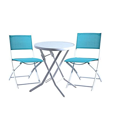 Domi Outdoor Living Garden Bistro Folding Table & 2 Chair