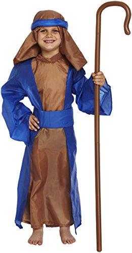 Henbrandt Nativity Blue Shepherd Childrens Costume Age 4-6 Years
