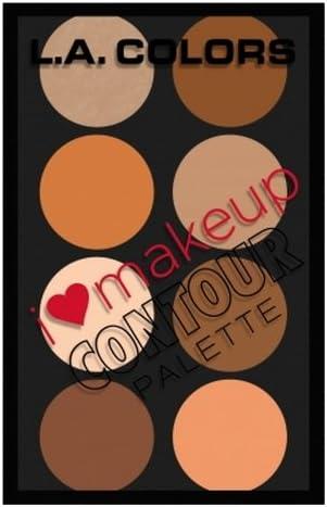 L. A. COLORS I Heart Makeup Contour Palette - Medium To Deep (並行輸入品)