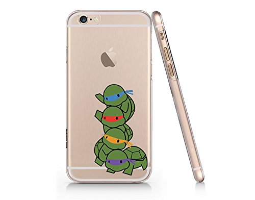 timeless design 96260 ce4ad Amazon.com: Ninja Turtle Slim Transparent Iphone 6 6s Case, Clear ...