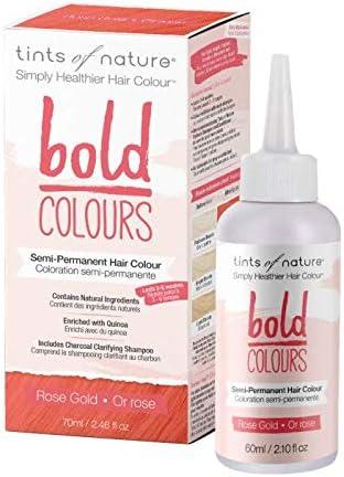 Tints of Nature Bold Rose Gold - Semi Permanent Natural Hair Dye, Single