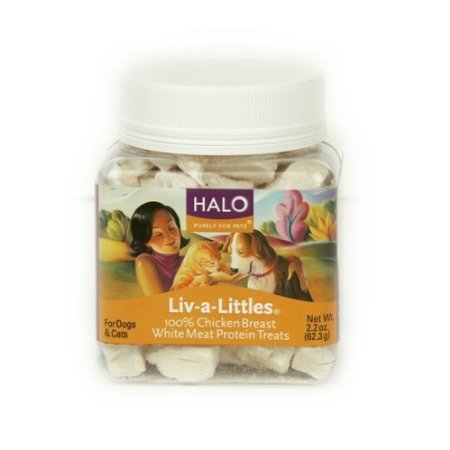 Halo Liv-a-Littles Natural Treats for Dogs and Cats, Freeze-Dried Chicken Breast Protein, 2.2-Ounce, My Pet Supplies