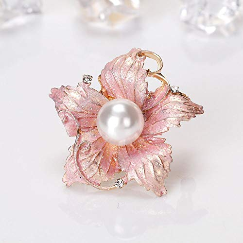 Lovely Flower Shape Enamel Pin Brooch Bridal Accessories Fashion Jewelry ()