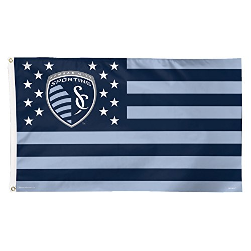 MLS Sporting Kansas City Stars and Stripes Deluxe Flag, 3 x 5', Multicolor (Sporting Kansas City Poster)