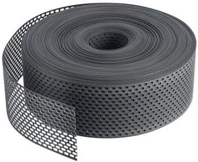 Fassade 500 cm x 80 mm L/üftungsstreifen PVC gerollt L/üftungsband Marderschutz